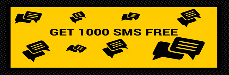 Get 1000 SMS 100% FREE! Biggest Offer by SMSIDEA