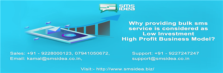 Why providing bulk sms service is considered as Low Investment High Profit Business Model?