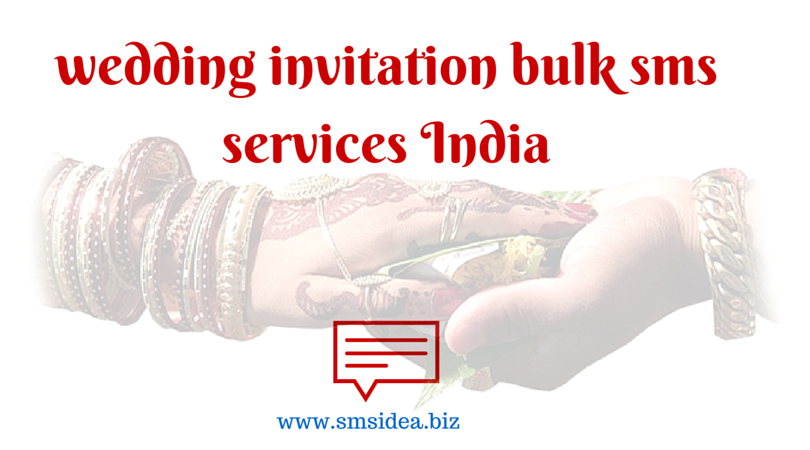 bulk sms for wedding invitation